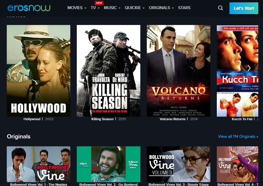 Stream Hollywood movies in Erosnow like Fmovies