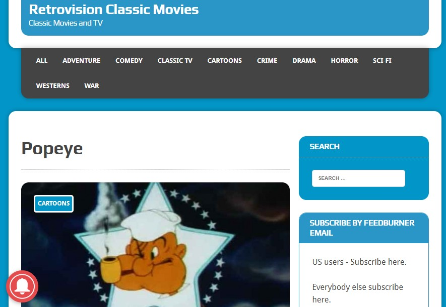 Retrovisionclassicmovies streams classic animation Fmovies and Kissanimation for free