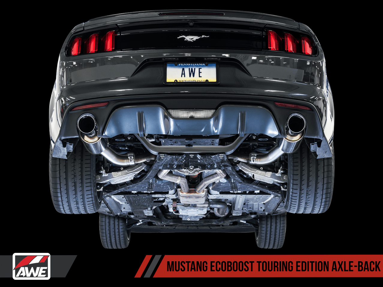 awe exhaust suite for ford s550 mustang