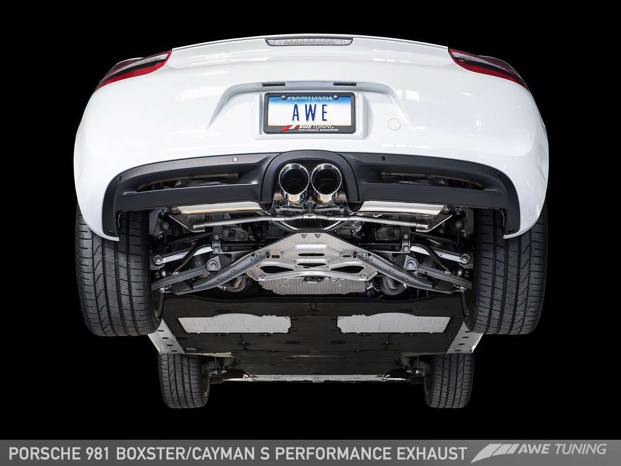 awe performance exhaust for porsche 981