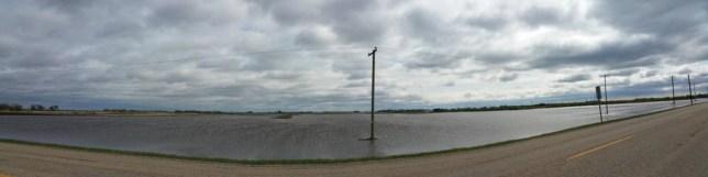 Flooded Farmland in Southern Manitoba