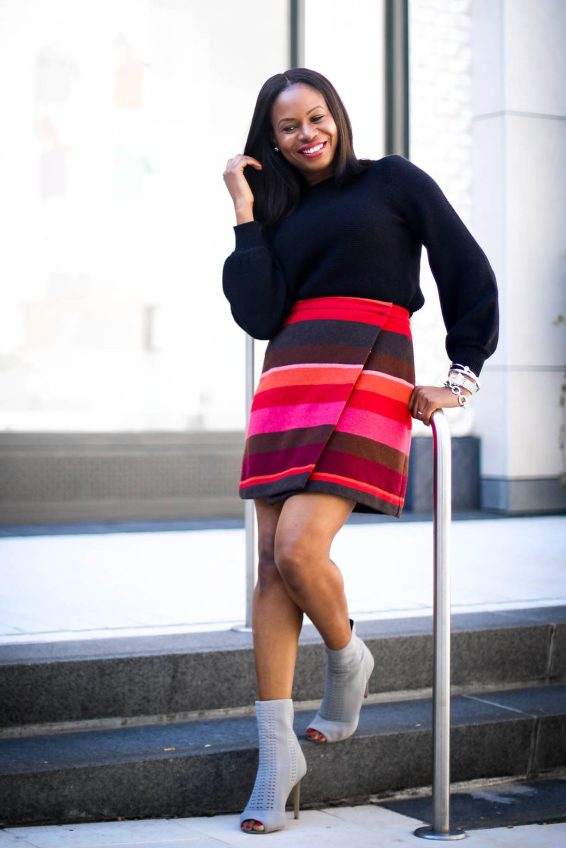 Dressy sweater for the holidays with the Loft-3