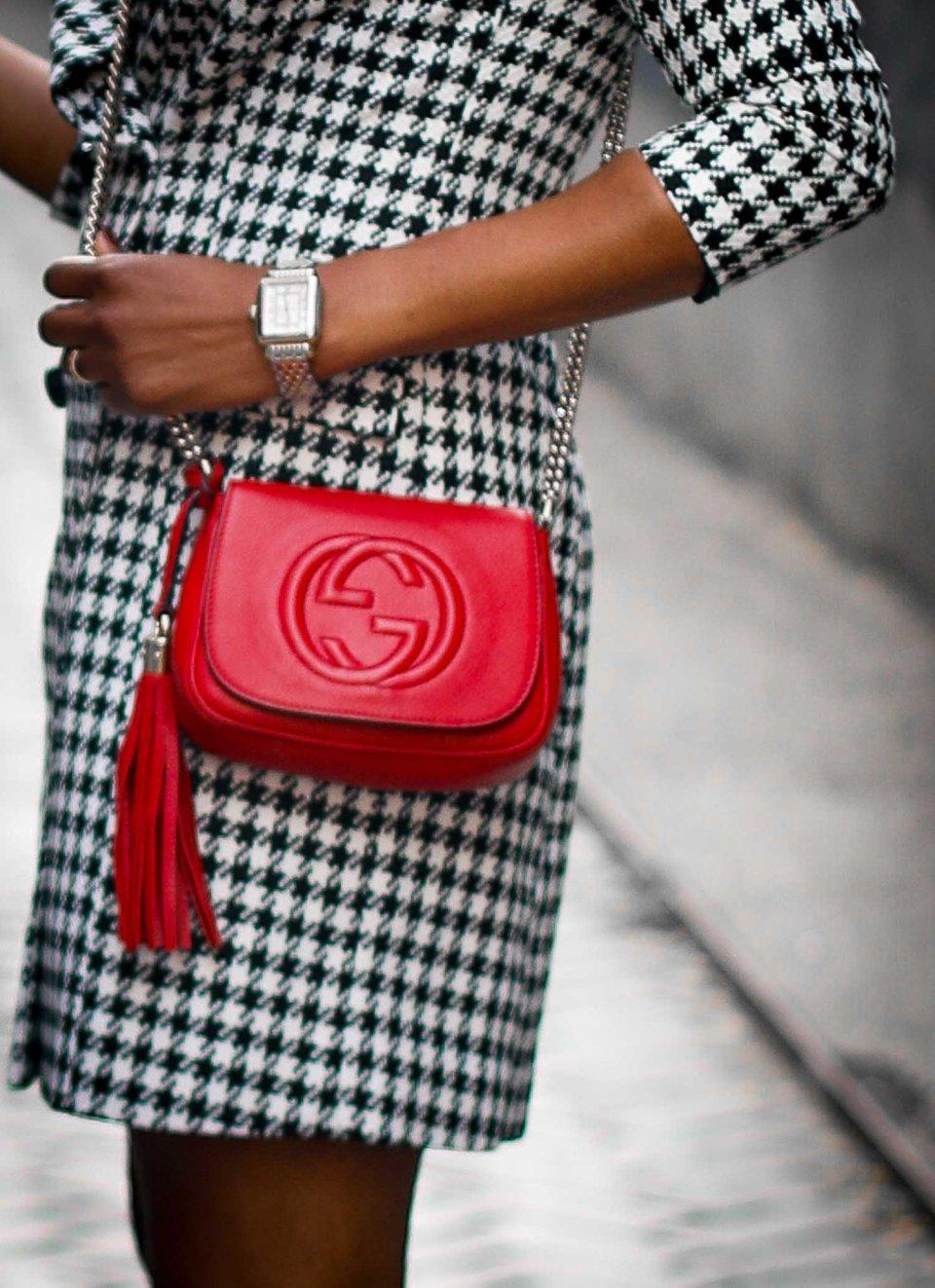 hondstooth blazer dress and louboutin booties atlanta blogger, holiday fashion-20