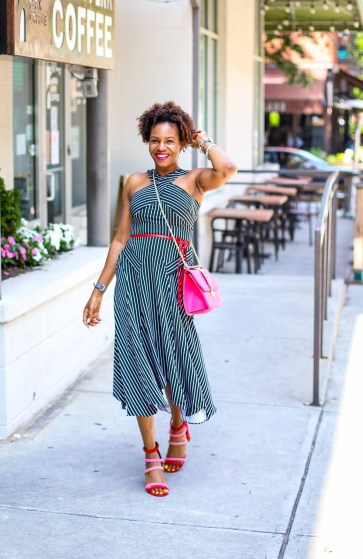 How to style a crisscross halter dress for summer style by atlanta fashion blogger-2