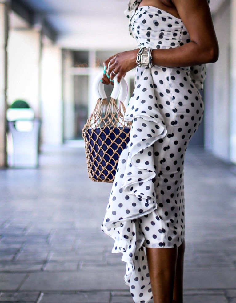 polka-dots nd ruffles, how to style the fashion trend all fashion girls love by Atlanta fashion and style blogger