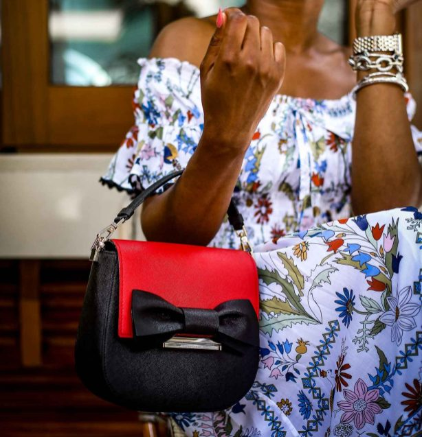 Atlanta fashion blogger wearing the Kate Spade Byride bag featuring the red and black bow flap-10