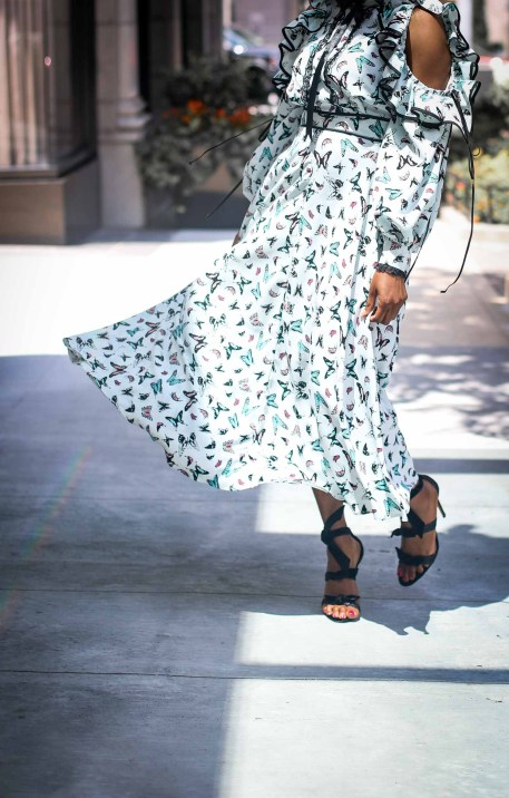 buffterfly midi dress worn with alexandre birman sandals by fashion blogger-5