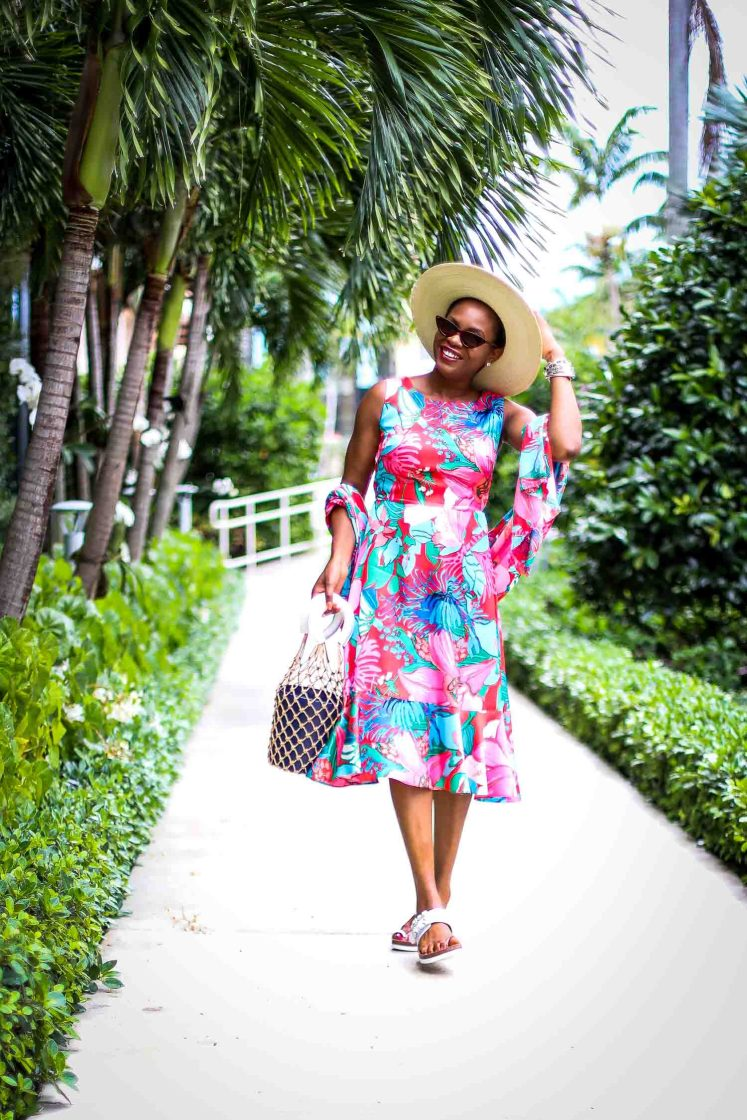 how to style a floral dress to the beach by atlanta fashion blogger-7