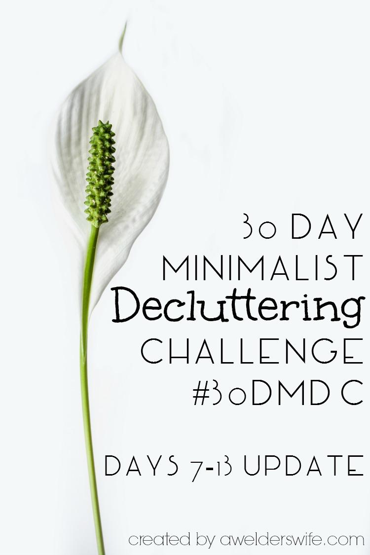 30 Day Minimalist Decluttering Challenge: Days 7-13 Update | www.awelderswife.com #30DMDC