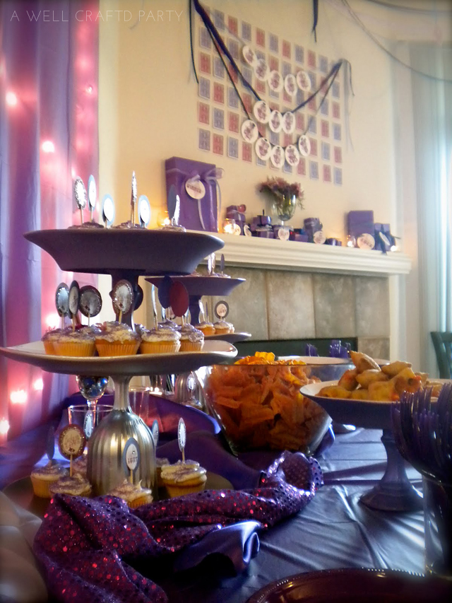 Lucky in Love Bridal Shower with Purple decor elements
