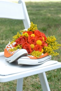 Orange and Yellow Wedding Bouquet // A Well Crafted Party