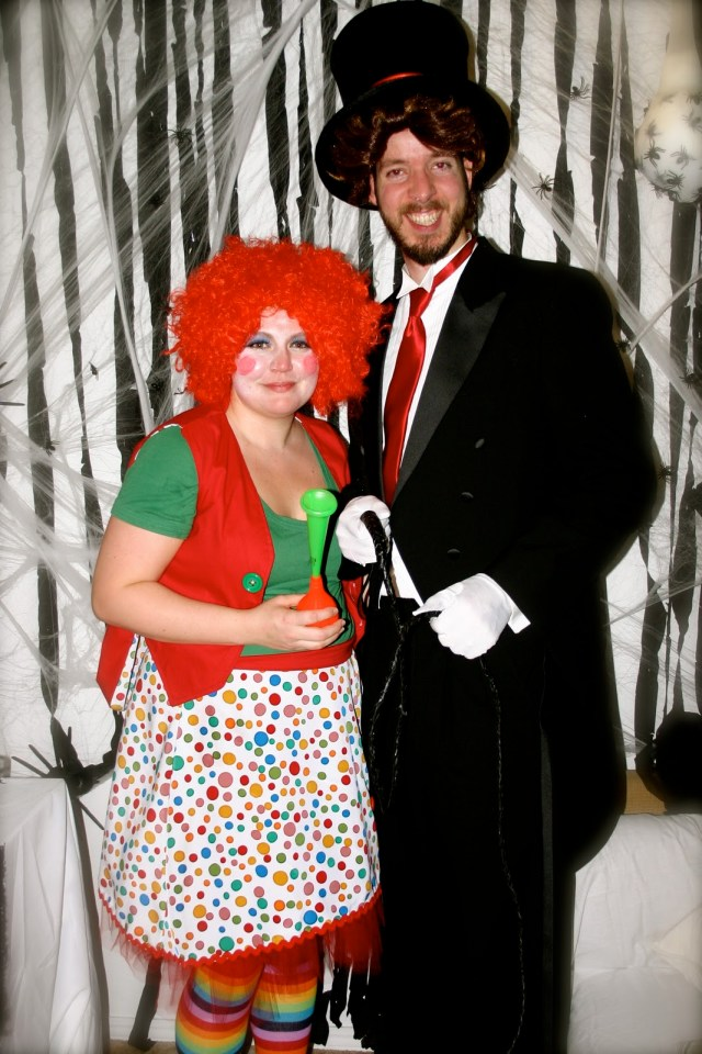 Clown and Ringmaster Couple Costume