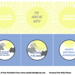 {Free Printables} You Are My Sunshine Party