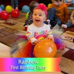 {Real Parties} Rainbow Themed First Birthday