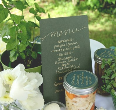 rustic table inspiration in a farm to table fete on Eat Drink Pretty