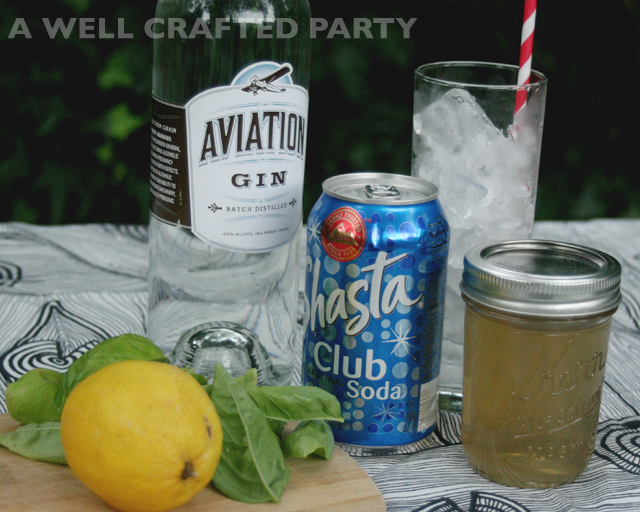Simple refreshing gin and basil cocktail a well crafted for Cocktail 2 ingredients
