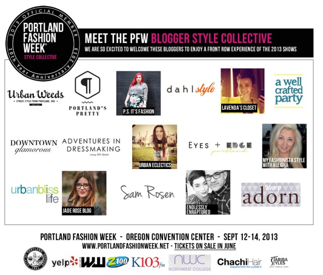 From the Portland Fashion Week Announcement of the Style Collective.