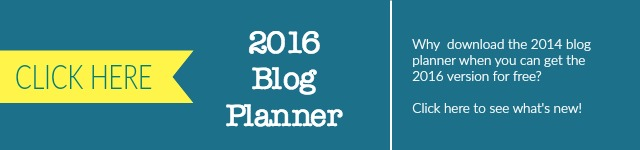 2014 to 2016 Blog Planner