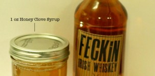 Irish Whiskey Cocktail with Honey Clove Syrup & Savory Cocktails Review