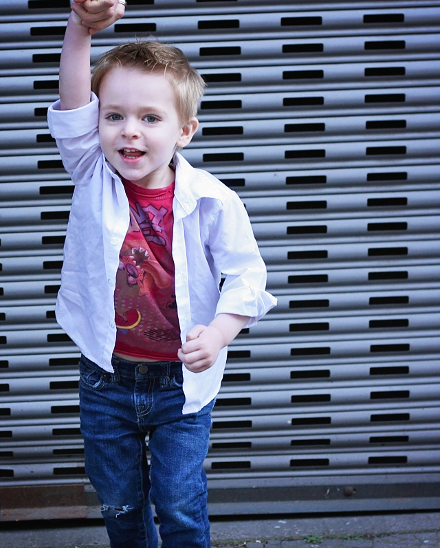 Vintage Tee and Jeans Toddler Style // A Well Crafted Party
