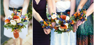 Fall wedding flowers - A Well-Crafted Party