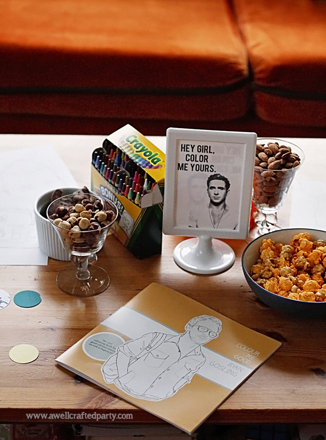 "Ryan Gosling Themed Party Activity ""Color Me Yours"" // A Well Crafted Party"