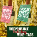 Free Printable Holiday Wine Tags // A Well Crafted Party