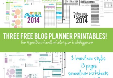 Top Posts of 2014: Three Free Blog Planner Printables for 2014 // A Well Crafted Party