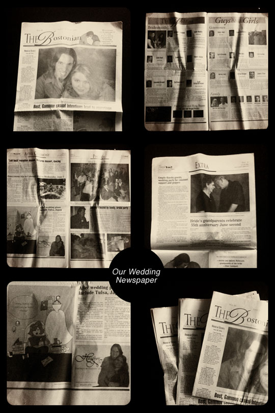 DIY Wedding Newspapers - A Well Crafted Party