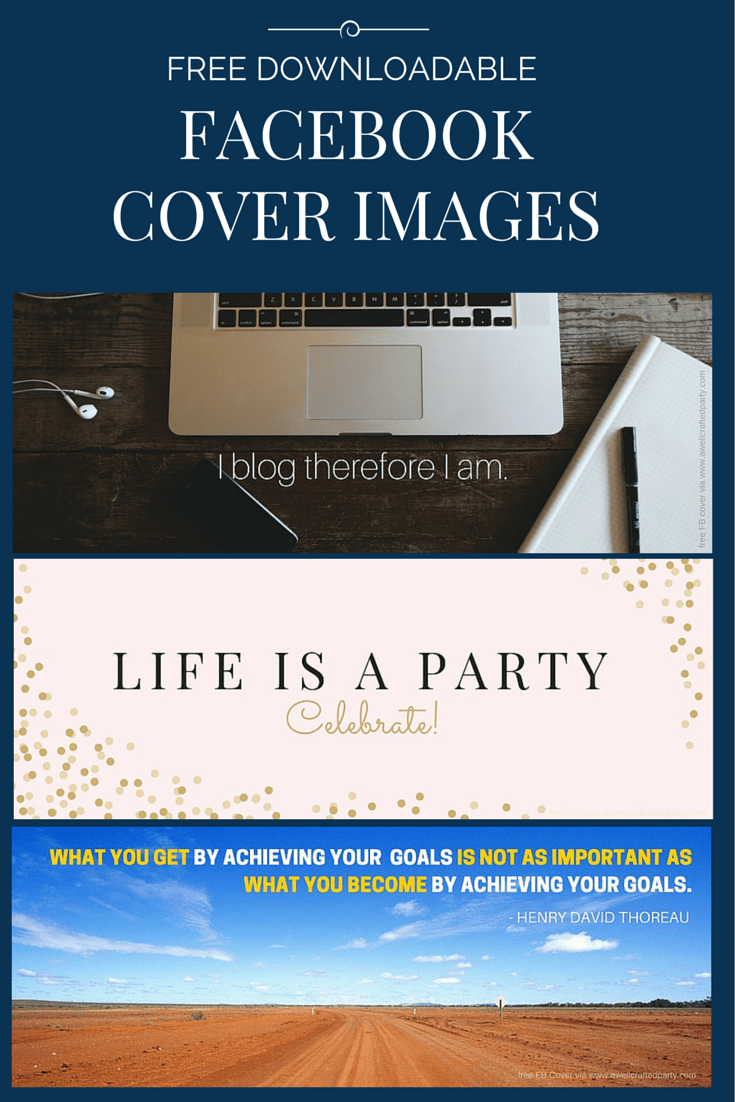 Free Facebook Cover Images from A Well Crafted Party