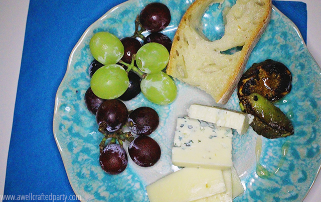 Italian inspired fruit and cheese plate
