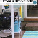 DIY Outdoor Rug from a drop cloth & paint. A super easy DIY from A Well Crafted Party