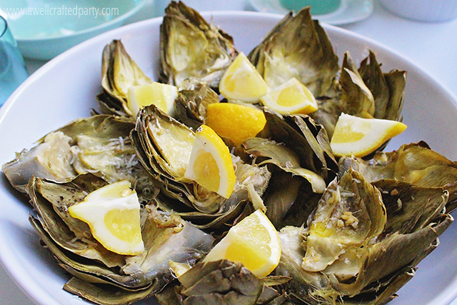 Parmesan & Garlic Stuffed Grilled Artichokes Recipe