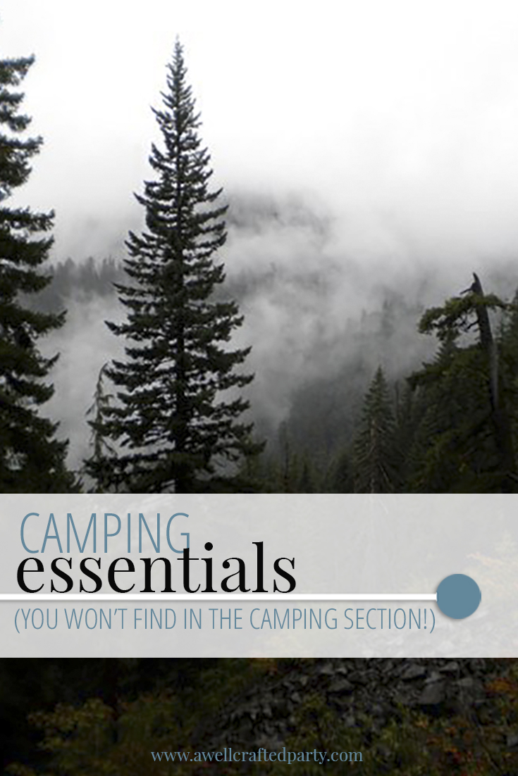 Camping Essentials (You Won't Find in the Camping Section) - A Well Crafted Party