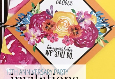10th Anniversary Invitations from A Well Crafted Party