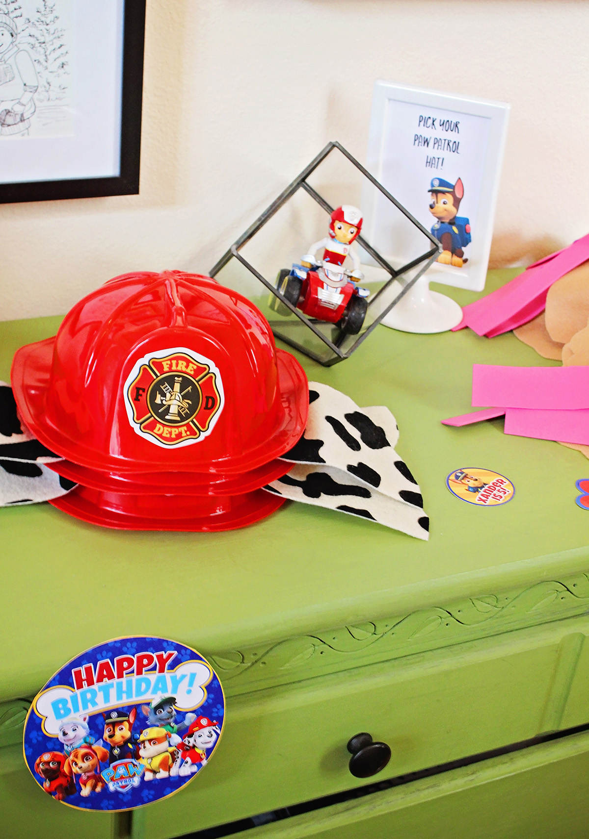 DIY Hat for Marshall from Paw Patrol