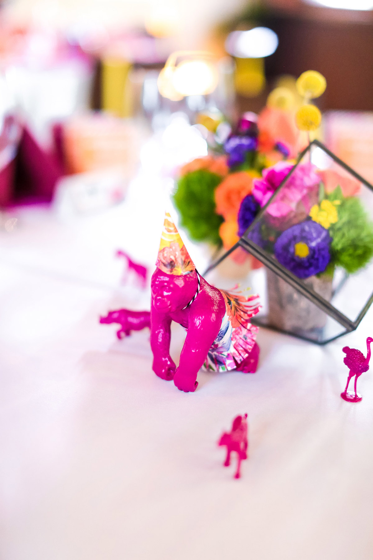 Party Animal Escort Table from A Well Crafted Party with photos by Mary Boyden