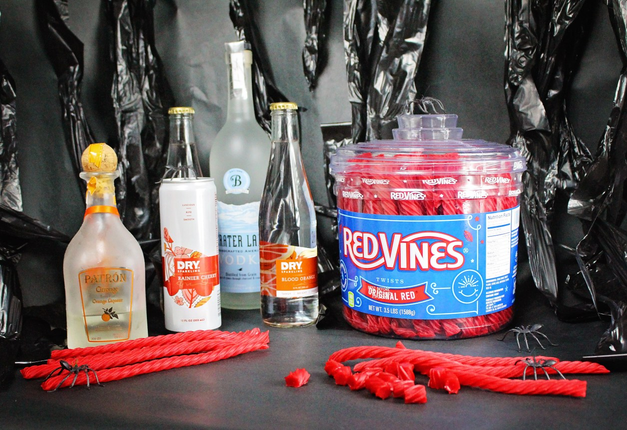 Creating a Halloween Cocktail with Red Vines on A Well Crafted Party
