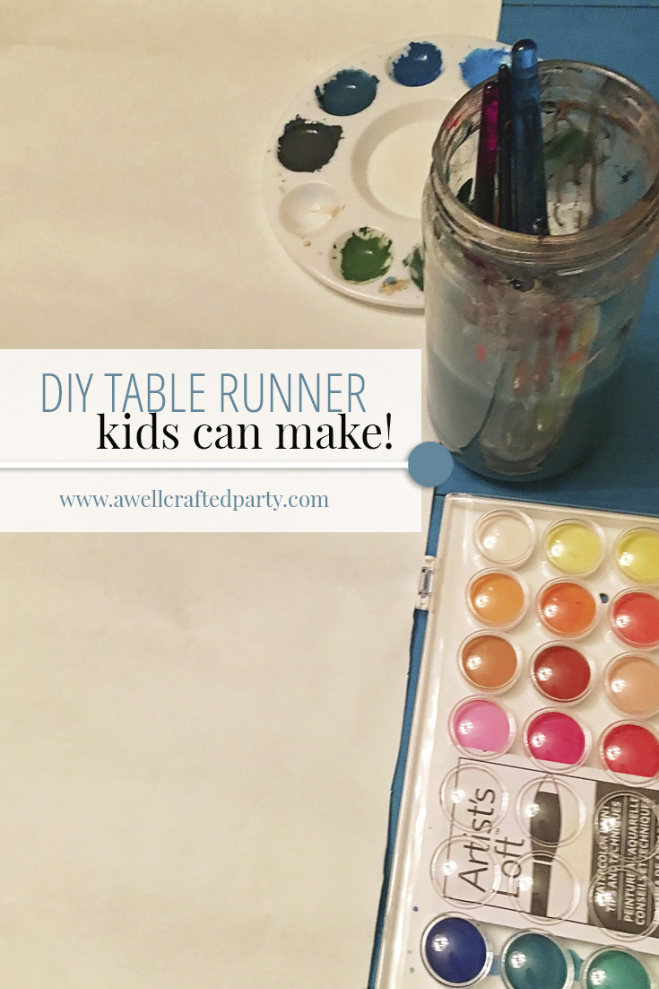 DIY Table Runner Project - Perfect project to do with your kids! - A Well Crafted Party