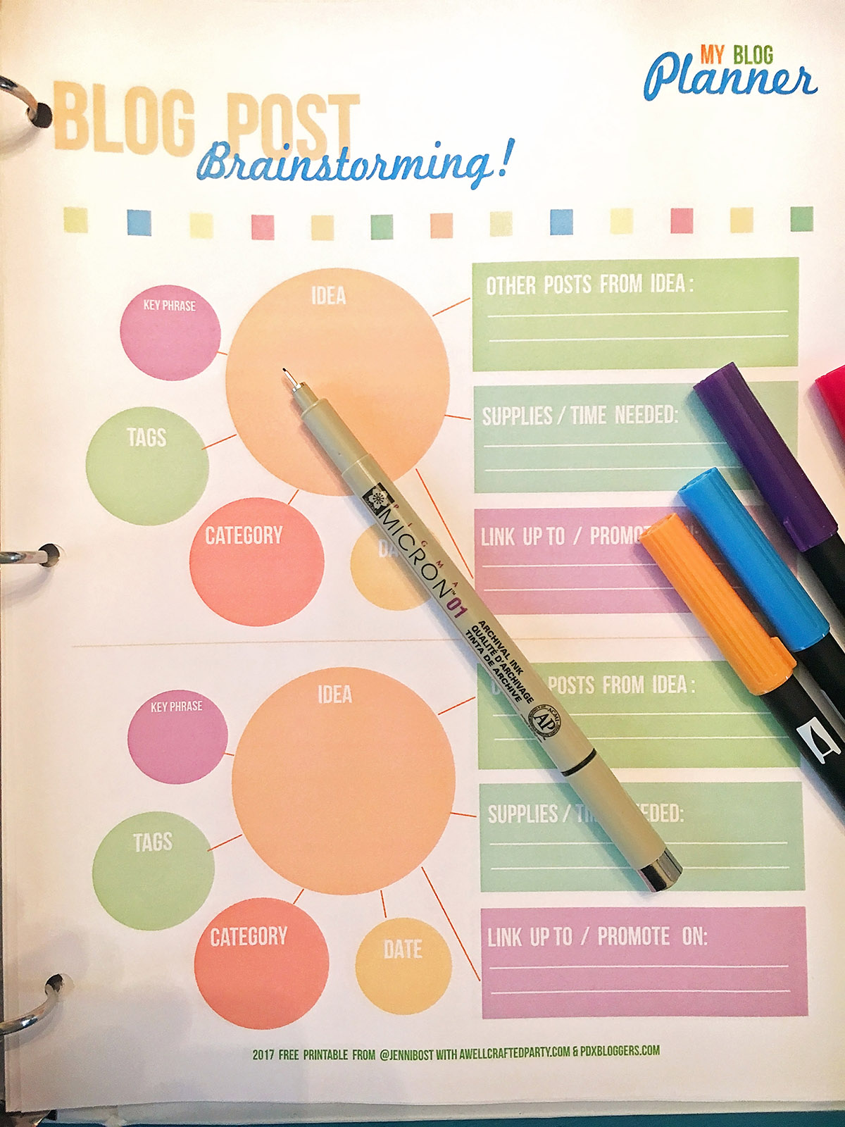 Free Printable Blog Planner Edition A Well Crafted Party