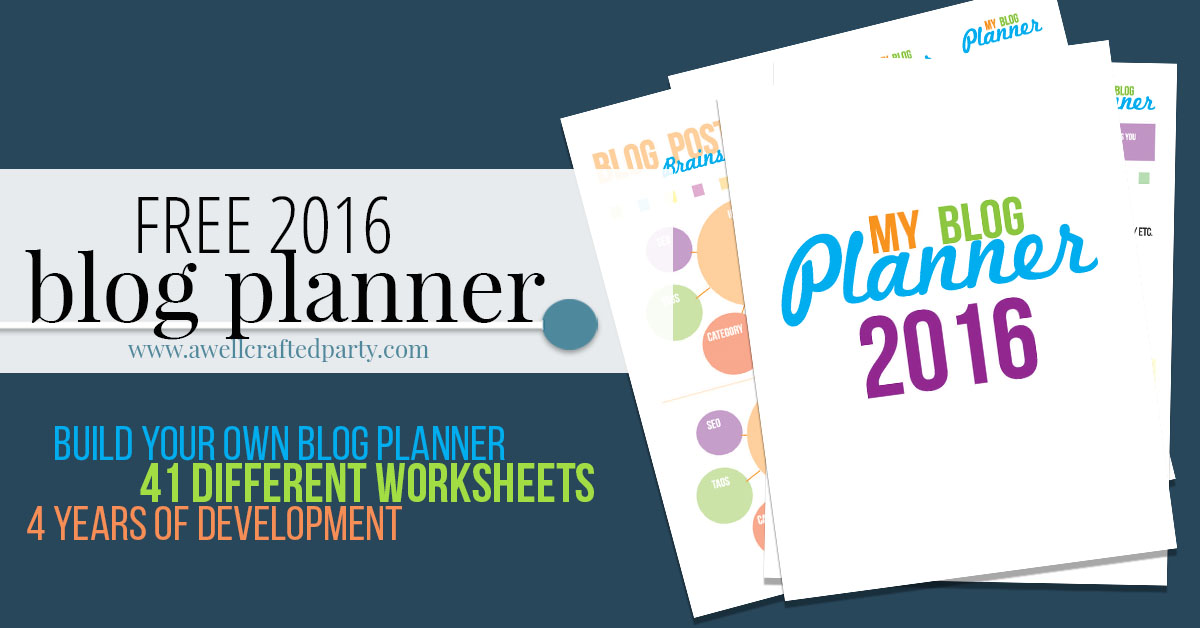 2016 Blog Planner Announcement was the top post of 2016! The 2017 planner is coming soon!