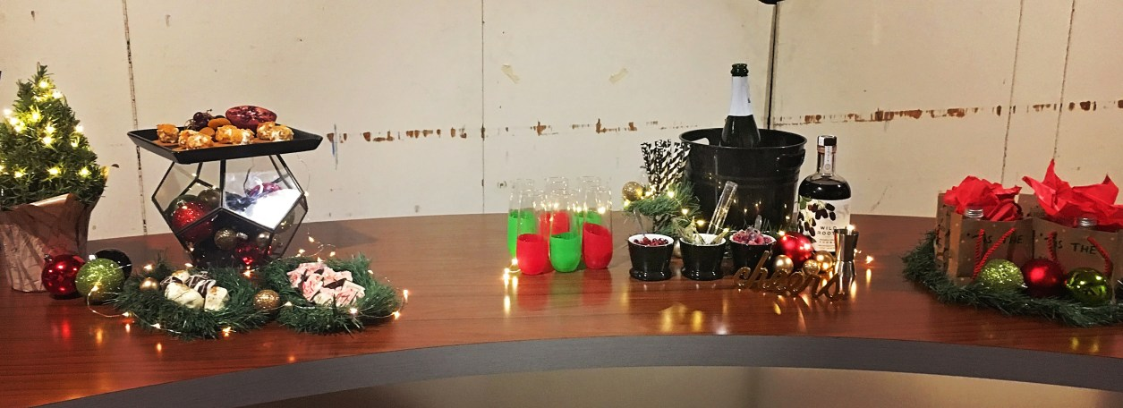 Holiday Party Decor Tips - Behind the Scenes at KATU - A Well Crafted Party