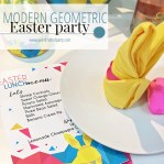 Modern Easter Party + Free Printables