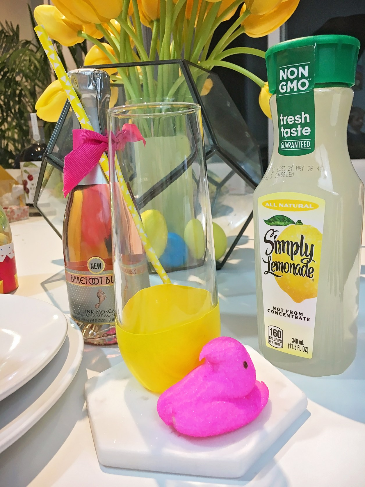 modern geometric easter drink idea | A Well Crafted Party