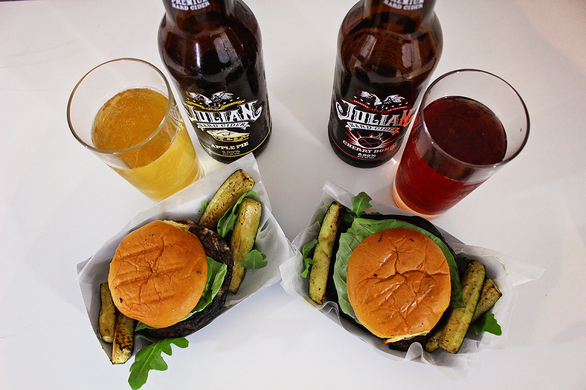 Portobello Caprese Burger + Free Printable Food Tray   A Well Crafted Party