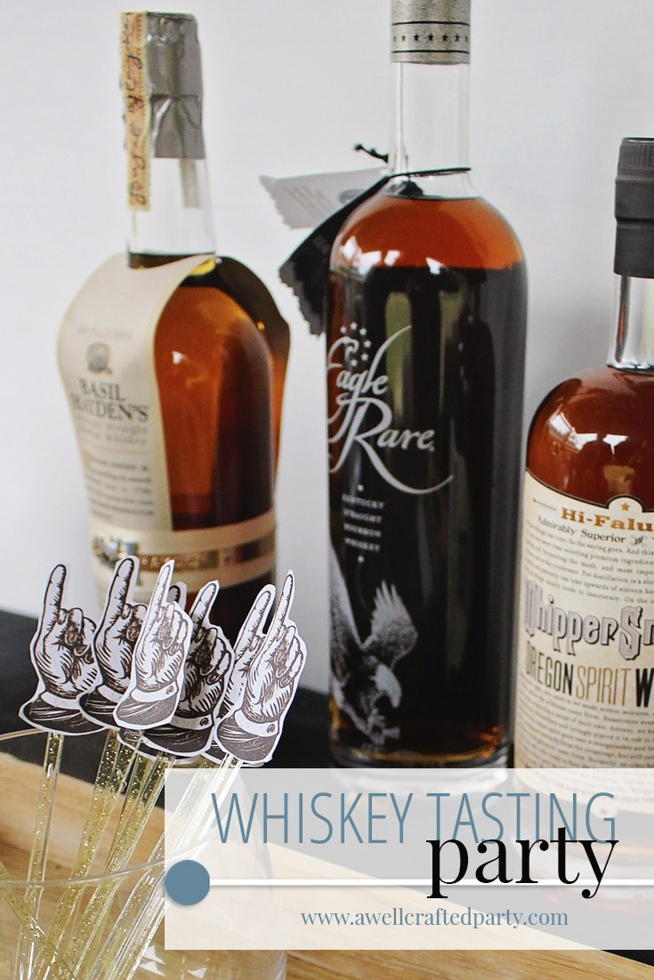 host a whiskey tasting party | A Well Crafted Party