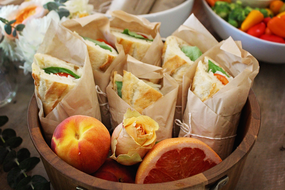 Lunch Baby Shower Food | A Well Crafted Party