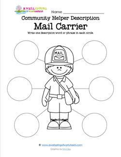 Community Helper Description Mail Carrier A Wellspring