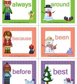 dolch sight word flashcards seasons pre primer through third
