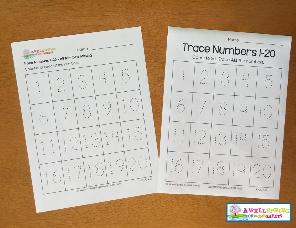 Before And After Numbers 1 20 Worksheet